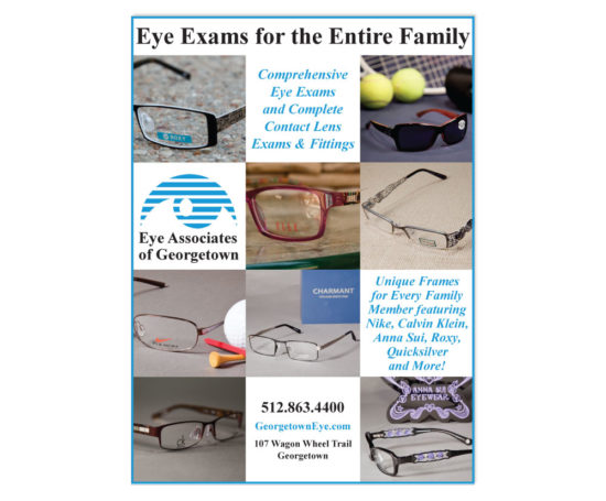 Eye Associates of Georgetown print ad designed by Dan Poore
