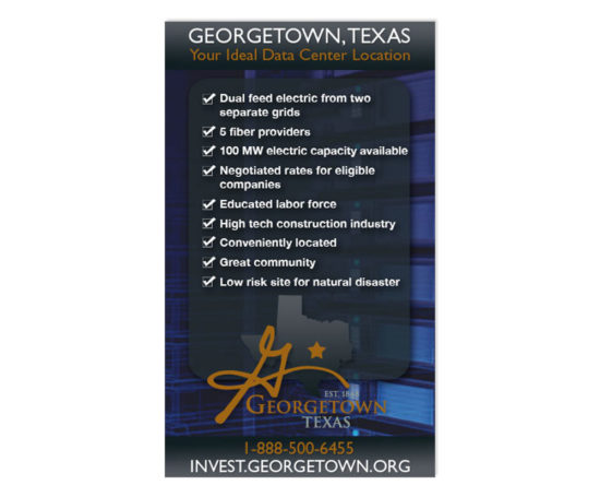 Georgetown Data Center web ad designed by Dan Poore