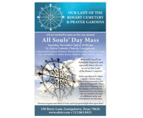 Our Lady of the Rosary Print Collateral