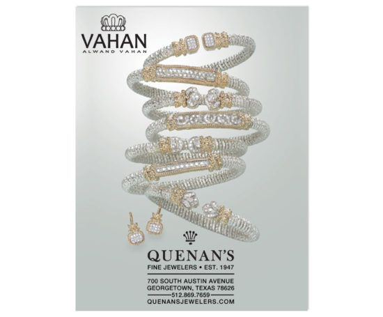 Quenan's Jewelers print ad designed by Dan Poore