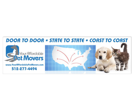 Your Affordable Pet Movers banner designed by Dan Poore