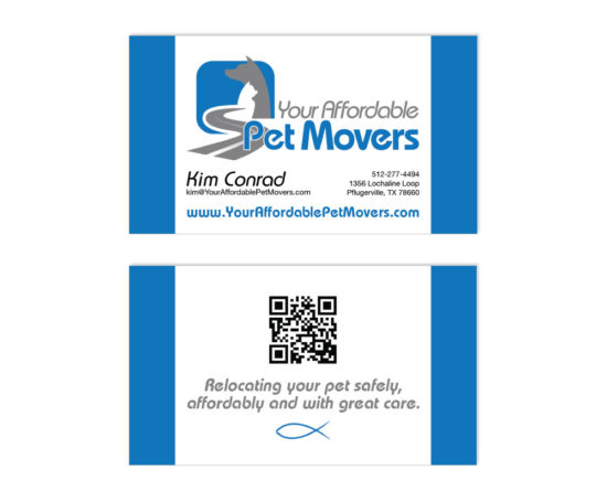 Your Affordable Pet Movers business card designed by Dan Poore