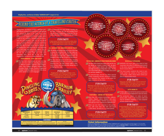 Ringling Bros. and Barnum & Bailey Circus spread designed by Dan Poore
