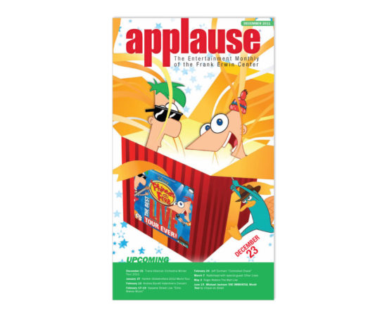 Phineas and Ferb Applause cover designed by Dan Poore