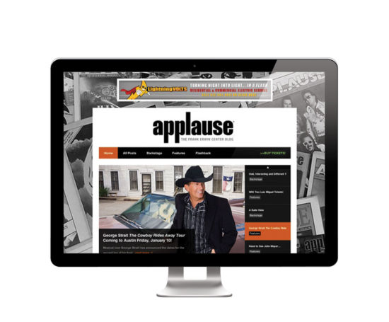 Applause (Frank Erwin Center Blog) website designed by Dan Poore