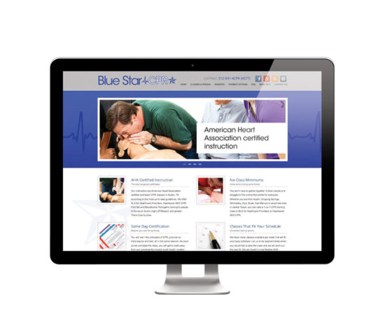 Blue Star CPR website designed by Dan Poore