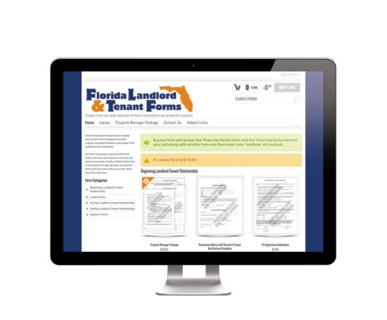 Florida Landlord and Tenant Forms website designed by Dan Poore