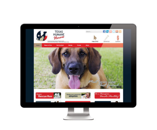 Texas Humane Heroes Website designed by Dan Poore