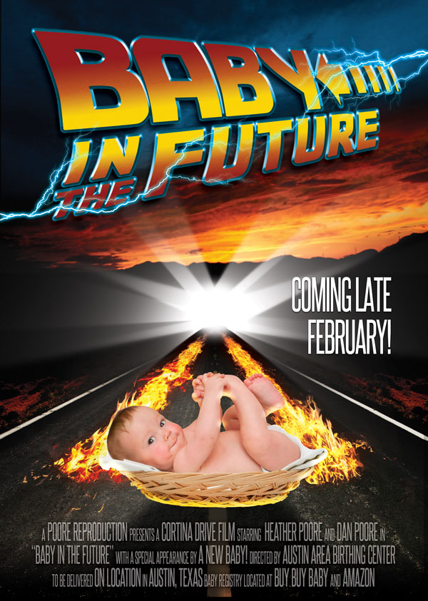Baby in the Future Baby Announcement Movie Poster