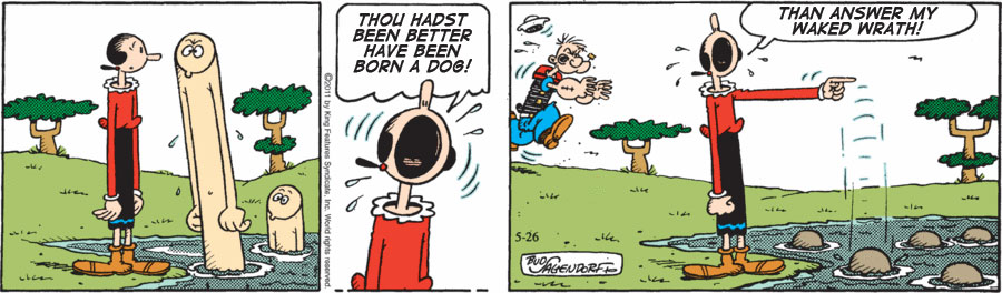 Othello (3.3.402-3) as told by Olive Oyl