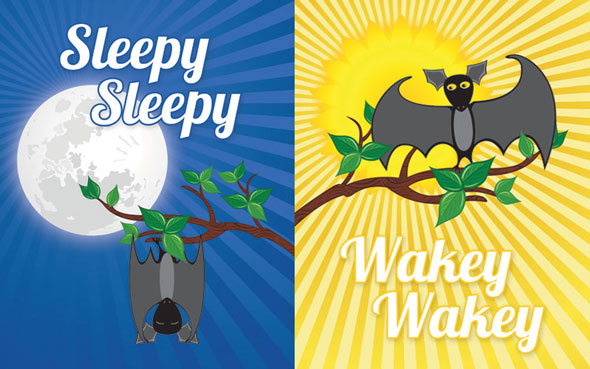 Sleepy Sleepy and Wakey Wakey Etsy-inspired prints