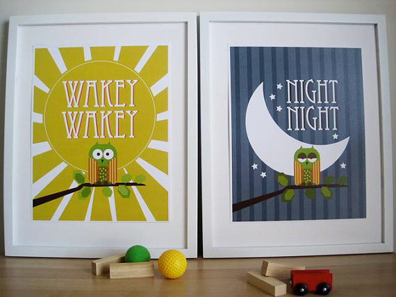 Wakey Wakey and Night Night from Etsy