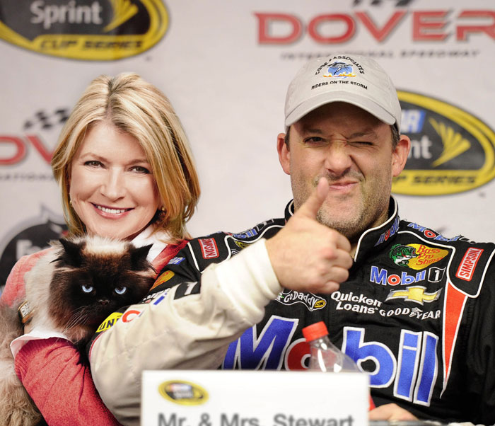 What if Tony Stewart and Martha Stewart were actually married?