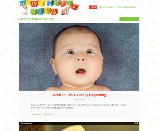 That Poore Baby website designed by Dan Poore